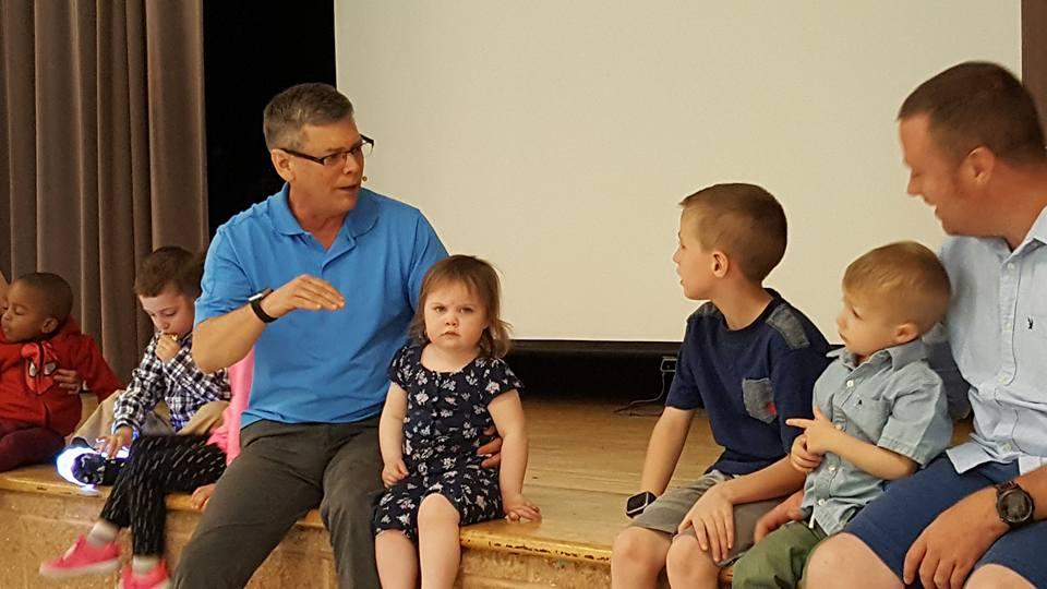 Scott with children